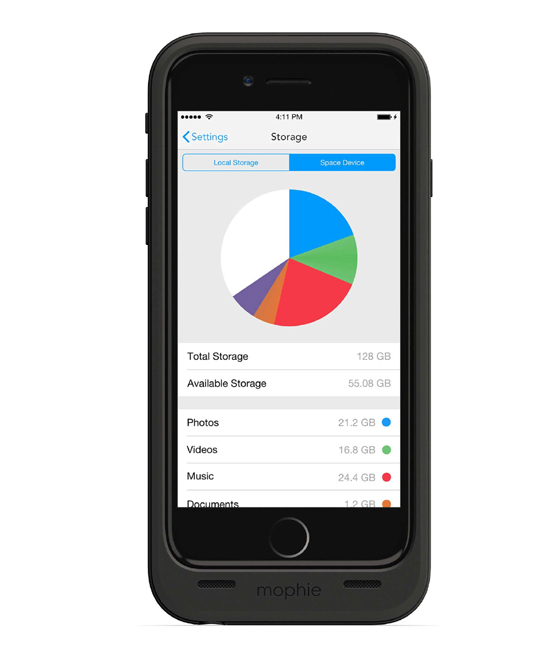 Mophie Space Pack 100 Percent 64GB for iPhone 6