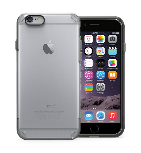 Puregear Slim Shell Pro Clear/Black for iPhone 6s/6 | Tradeline Egypt Apple