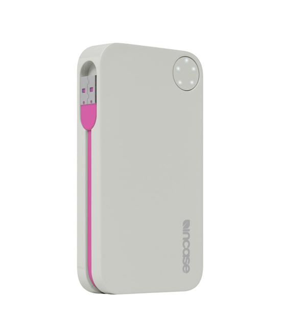 Incase Portable Power 5400 Gray/Magenta | Tradeline Egypt Apple