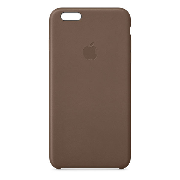 Apple iPhone 6 Leather Case Olive Brown   Tradeline Egypt Apple